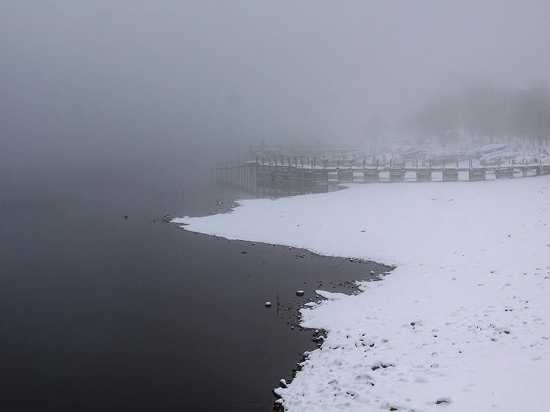 Snow-surrounded Chuzenji Lake, close to Nikko, Japan, photo by Ivan Kralj