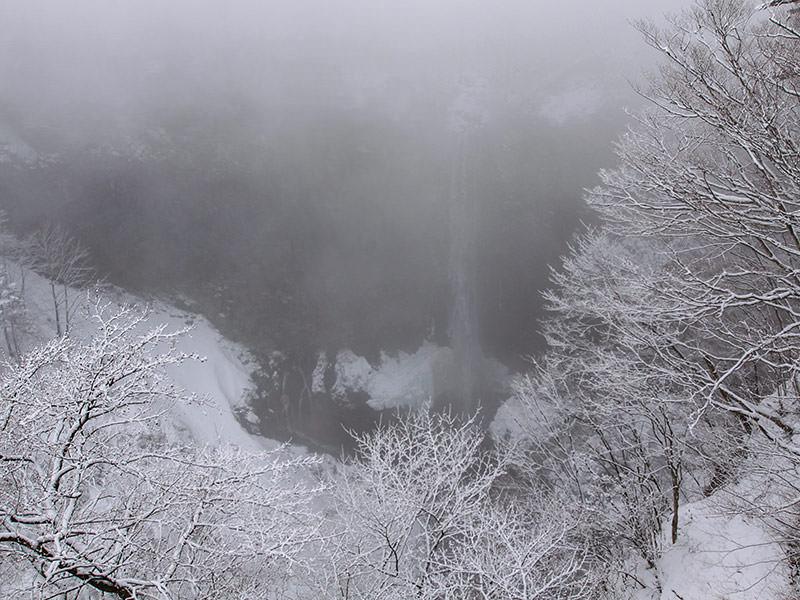 Kegon Falls, Japan, hidden in the mist, photo by Ivan Kralj