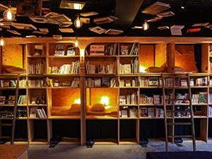 Raising the cultural level of hostels in Tokyo: bookshelf dormitory in Book and Bed hostel in Tokyo, Japan, photo by Ivan Kralj