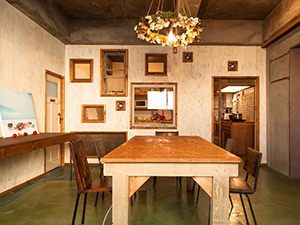 Dining room at Nui hostel in Tokyo, Japan, photo copyright by Nui