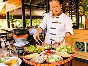 Madame Vo Thi Loan serving lau tha hot pot at Seahorse Resort in Phan Thiet, photo by Ivan Kralj