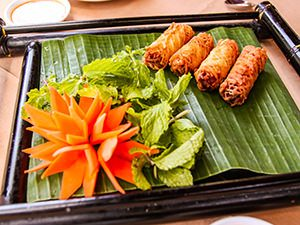 Spring rolls at Seahorse Resort in Phan Thiet, photo by Ivan Kralj
