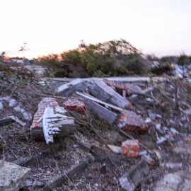 Debris at the site of the former amusement park Nara Dreamland in Nara, Japan, photo by Ivan Kralj