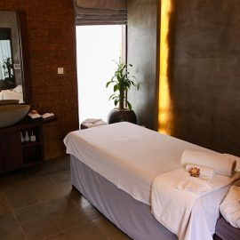 Massage parlour at Jaya House River Park hotel, in Siem Reap, Cambodia, photo by Ivan Kralj