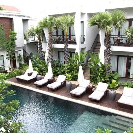 Jaya House River Park hotel swimming pool, in Siem Reap, Cambodia, photo by Ivan Kralj