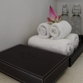 Lotus flower and towels in Junior Suite of Jaya House River Park hotel, in Siem Reap, Cambodia, photo by Ivan Kralj