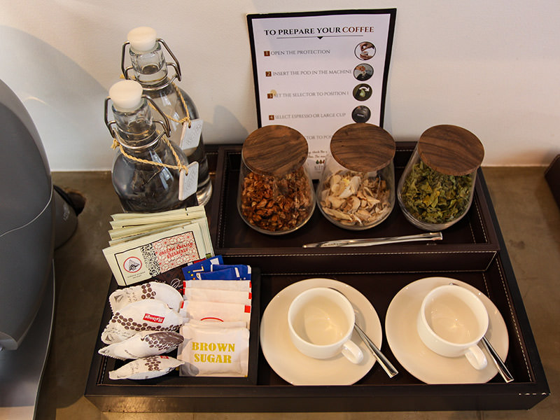 Tea variety in Junior Suite of Jaya House River Park hotel, in Siem Reap, Cambodia, photo by Ivan Kralj