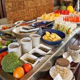 Breakfast buffet at the restaurant of Jaya House River Park hotel, in Siem Reap, Cambodia, photo by Ivan Kralj