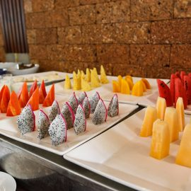 Fruit at the breakfast buffet at the restaurant of Jaya House River Park hotel, in Siem Reap, Cambodia, photo by Ivan Kralj