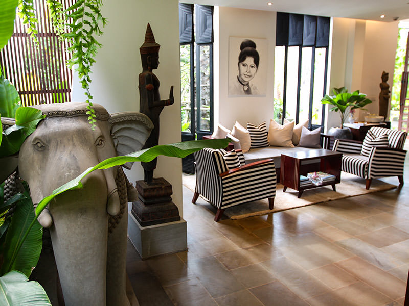 Jaya House River Park hotel lobby, in Siem Reap, Cambodia, photo by Ivan Kralj