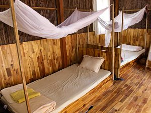 Mosquito-net protected beds in Island Life Hostel dormitory, on Phu Quoc Island, Vietnam, photo by Ivan Kralj