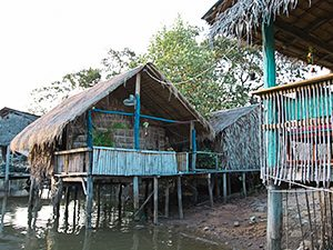 Bungalow on water at Man'Groove Guesthouse in Kampot, Cambodia, photo by Ivan Kralj