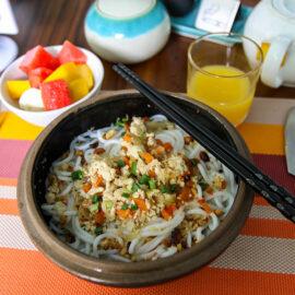 Noodle dish at Rambutan Resort Phnom Penh, Cambodia, photo by Ivan Kralj