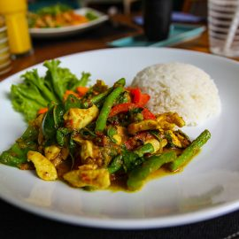 Beef Lok Lak dish at Rambutan Resort Phnom Penh, Cambodia, photo by Ivan Kralj