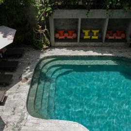 Swimming pool at Rambutan Resort Phnom Penh, Cambodia, from bird's perspective, photo by Ivan Kralj
