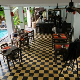 Restaurant/bar at Rambutan Resort Siem Reap, Cambodia, photo by Ivan Kralj