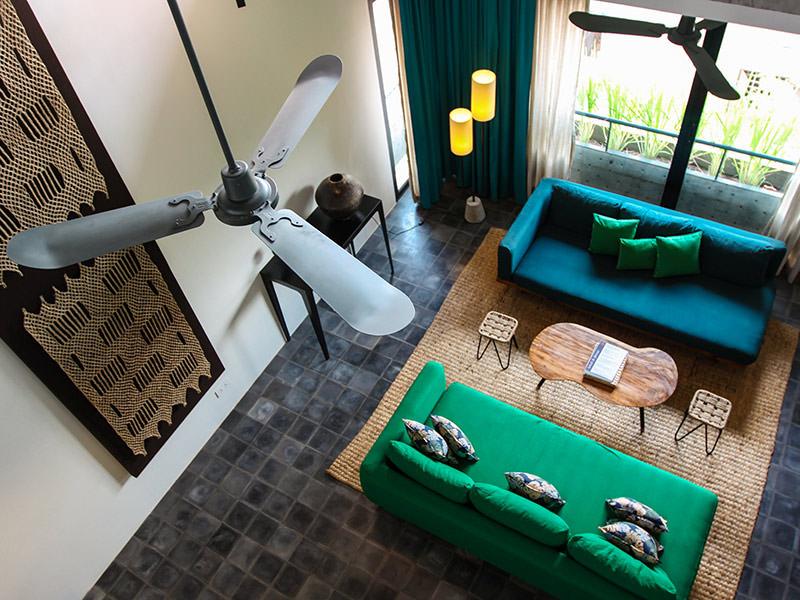 Penthouse living room at Rambutan Resort Siem Reap, Cambodia, photo by Ivan Kralj