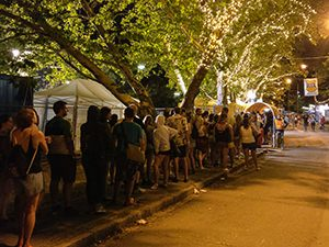 The long queue for the taxis at Sziget Festival 2017 in Budapest, Hungary, photo by Ivan Kralj
