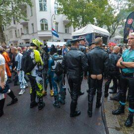 People at Folsom Europe Street Fair, the biggest European gay fetish event, in Berlin, Germany, photo by Ivan Kralj