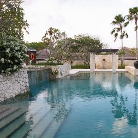 The main swimming pool at the Balé resort in Nusa Dua, Bali, Indonesia, photo by Ivan Kralj