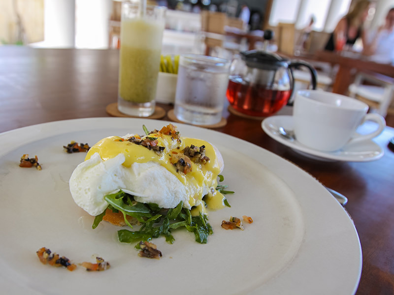 Poached egg for the breakfast in the Faces restaurant at the Balé resort in Nusa Dua, Bali, Indonesia, photo by Ivan Kralj