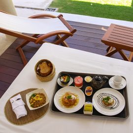 The breakfast served in the private pavilion at the Balé resort in Nusa Dua, Bali, Indonesia, photo by Ivan Kralj
