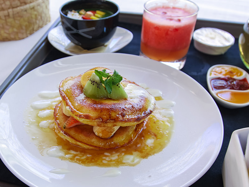 Orange pancakes at the Balé resort in Nusa Dua, Bali, Indonesia, photo by Ivan Kralj