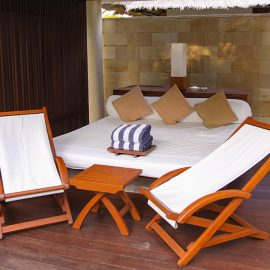 The daybed in the private pavilion at the Balé resort in Nusa Dua, Bali, Indonesia, photo by Ivan Kralj