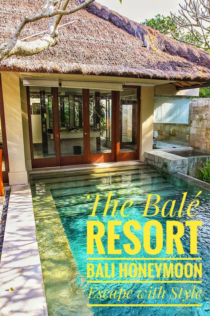 Searching for your Bali honeymoon? The Balé in Nusa Dua is a 5-star resort that will spoil you!