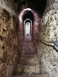 The secret staircase connecting the first and the third floor of Bran Castle was forgotten and discovered during 1927 renovation, in Transylvania, Romania, photo by Ivan Kralj