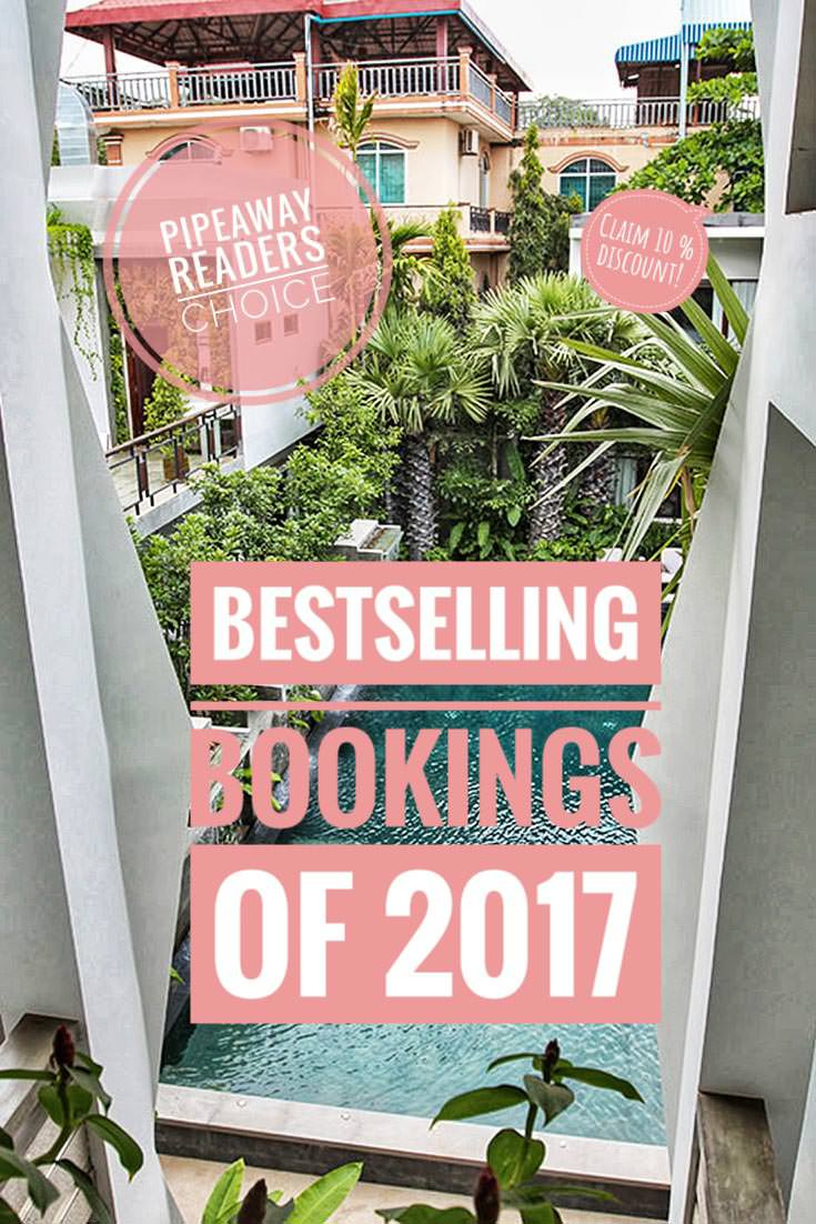 Pipeaway readers have spoken - in 2017 these were the best selling booking.com properties in Asia among our users. Visit the website to get your 10 % discount for your first hotel booking!