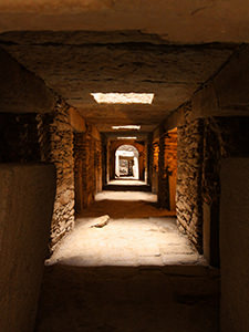 Underground chambers of Nefas Mewecha, the largest megalithic tomb on Earth, in Aksum, Ethiopia, photo by Ivan Kralj
