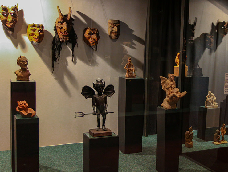 Exhibits at Devil's Museum in Kaunas, Lithuania, photo by Ivan Kralj