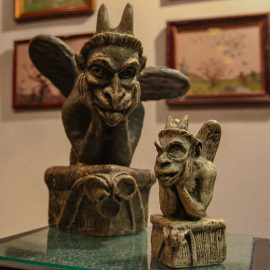 Sculpture exhibits at Devil's Museum in Kaunas, Lithuania, photo by Ivan Kralj