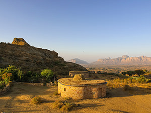 First morning sunshines at Gheralta Lodge with Gheralta Mountains in the backdrop, Ethiopia, photo by Ivan Kralj