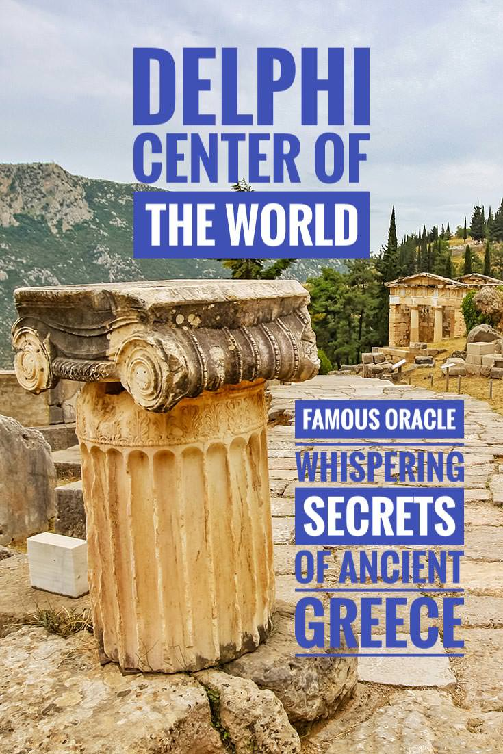 According to the Greek mythology, Delphi is the center of the world. It was the home of the famous Oracle of Delphi - Sybil Pythia was attracting the whole ancient classical world to the Temple of Apollo, providing prophecies and advice everyone followed, read more on Pipeaway.com