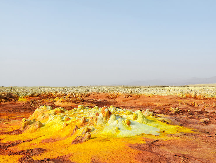 Unearthly colorful landscape at Dallol, Danakil Depression, Ethiopia, the hottest place on Earth, photo by Ivan Kralj