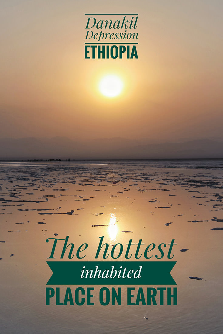 Danakil Depression in Ethiopia is the hottest inhabited place on Earth. Its daily temperatures can reach 50 degrees Celsius