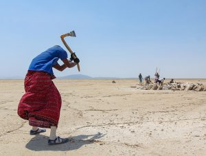 Miners mining the salt at the plains of Lake Assale, Danakil Depression, Ethiopia, the hottest place on Earth, photo by Ivan Kralj