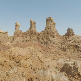 The canyon of salt mountains in Danakil Depression, Ethiopia, the hottest place on Earth, photo by Ivan Kralj