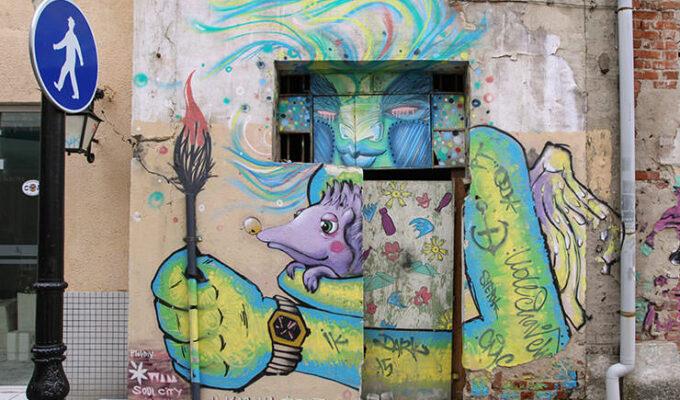 Street art in Kapana district of Plovdiv, Bulgaria, the oldest city in Europe, photo by Ivan Kralj