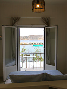 Seaview from the room in Hotel Emily, Syros island, one of the best beachfront hotels in Cyclades Islands, Greece, photo by Ivan Kralj