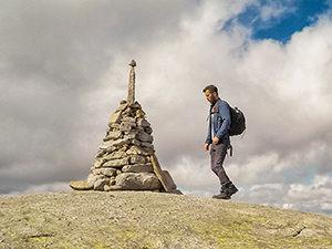 One of the cairns (stone pile) on Kjerag Mountain trek, Norway, photo by Ivan Kralj