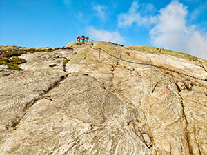 Steeper parts of Kjerag trek are equipped with guide chains, photo by Ivan Kralj