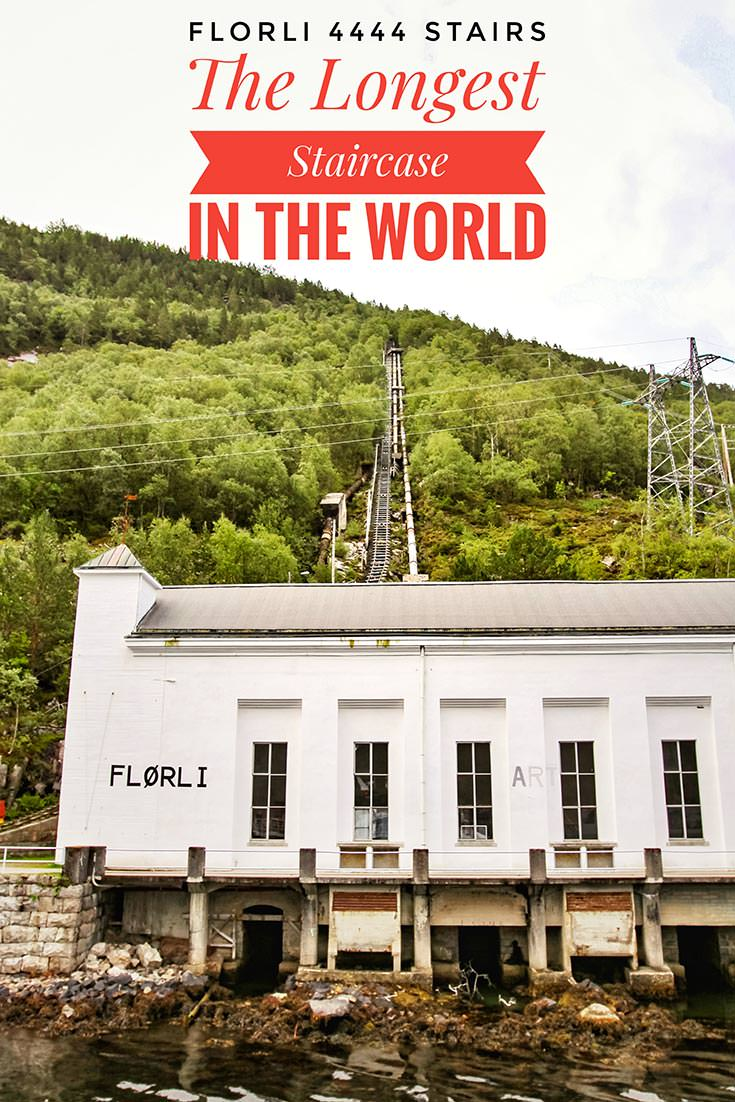 After the closing of Flørli power station, buildings were converted into the Flørli 4444 hostel & café, and maintenance stairway for the pipeline became the tourist attraction - the longest staircase in the world. If you are hiking in Norway and Lysefjord, this challenge should not be missed!