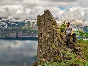 Kallelifjellet and Kalleligjelet are two unusual rocks above the abyss of Lysefjord, another daredevils' magnet for hikers who want to find Kalleliklumpen, the hovering boulder at Flørli, Norway, photo by Ivan Kralj