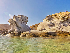 Unusual rock formations at Kolymbithres Beach in Naoussa Bay, Paros, Greece, photo by Ivan Kralj