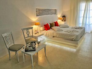 Junior suite in Zefi Hotel, Naoussa, Paros, Greece, photo by Ivan Kralj