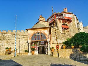 Gates of the Vatopedi Monastery on Mount Athos, the Holy Mountain, in Greece, photo by Ivan Kralj