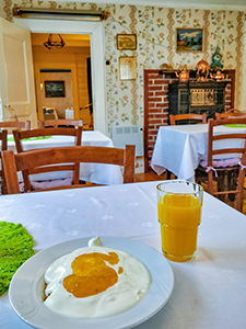 Breakfast at Aabelheim, the oldest house in Aurlandsvangen, a part of the Vangsgaarden guest house, in Aurland, Norway, photo by Ivan Kralj